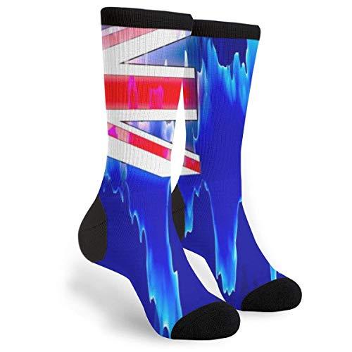 sdkjfg Bandera australiana Bandera australiana Casual Cool 3D Impreso Novedad Gráfico Crew Tube Calcetines