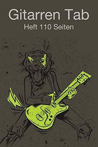 Gitarren Tab Heft 110 Seiten: 6x9 Gitarre Tabulatur Block I Geschenk Heft I Notizbuch I Notenheft I E Tab Grifftabelle I Noten Instrumental ... Gitarrengriffe Liederbuch für Gitarrenspieler