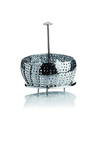 Barazzoni - Cesta para cocinar al Vapor (Mango telescópico, Acero Inoxidable sin níquel, 23 cm)