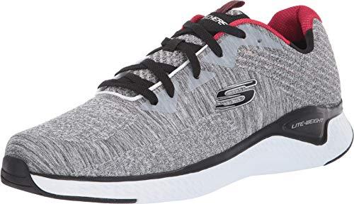 Skechers Herren SOLAR FUSE KRYZIK Sneaker, Grau (Gray Mesh/Synthetic/Black Trim Gybk), 46 EU