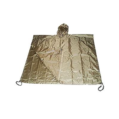 Military USMC Style All Weather Poncho Rain Coat - Coyote Tan