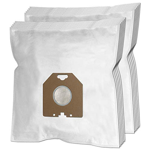 10er Pack Staubsaugerbeutel für Philips Staubsauger Typ HR6938/10, HR693810, HR6300 - HR6800, HR8700 - HR8899, HR8949, T300 - T800, TC400 - TC999, TCX400 - TCX999, Oslo, Oslo+