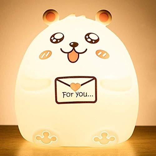 QIURUIXIANG - Luz de noche LED de silicona creativa, lámpara de escritorio de dibujos animados luz de noche para niños adultos regalo de cumpleaños de Navidad QI415