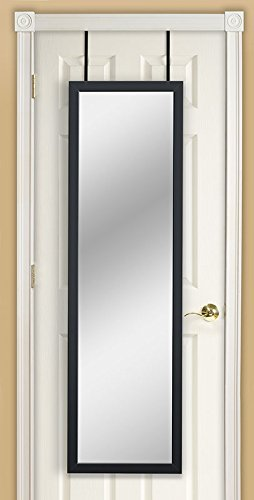 Mirrotek DM1448BLK Door Mirror, 14' x 48', Black