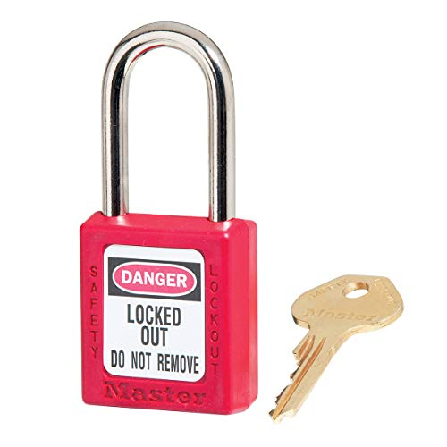 Master Lock 410RED Lockout Tagout Safety Padlock with Key