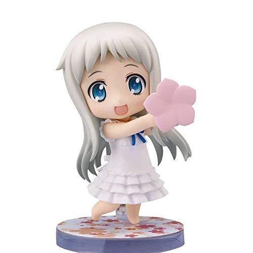 Kioiien Anime Figure Anohana La Flor Vimos Ese día Figura de acción Accesorios MENMA se Pueden reemplazar Q Versión de Anime Carácter Modelo Estatua Figurine Modelo Colección Toys Regalo 10 cm