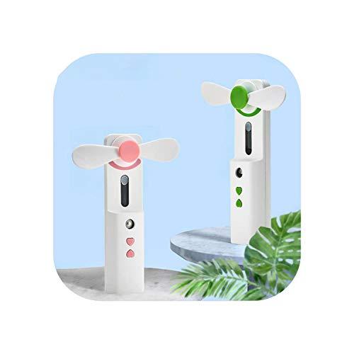Lüfter flexibel |Verwenden Sie Wasserzähler Kleine Lüfter halten Nanometer-Spray Tragbare Lüfter Zwei-in-Eins-Funktion Mehr USB-Feuchtigkeitsspray-Pink -