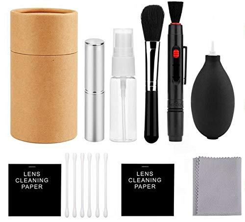 Kit di pulizia professionale per fotocamera, strumenti di pulizia per obiettivi della fotocamera e tastiera, incluso pulitore per bolle d'aria, spazzola di pulizia per obiettivi della fotocamera