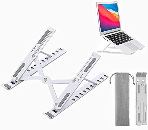 Soporte para computadora Base Ajustable de 10 Niveles de Altura Laptop Stand Estable atril para Laptop para MacBook Air, MacBook Pro,...