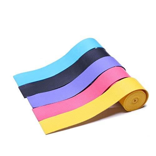 linjunddd Raqueta Anti Slip Grip Perforado Absorbente Estupendo Tenis Badminton Sobregrip Sobregrip Banda De Sudor Color Clasificado 5 X Conveniente De Suministro