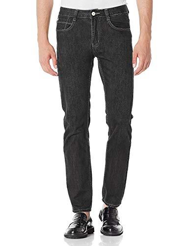Demon&Hunter 802 Serie Uomo Polar-Fleece Straight Jeans 8002B-34