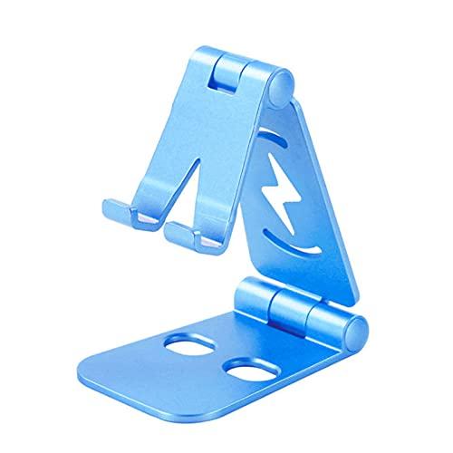 ALLWIN Soporte teléfono Celular, liviano y portátil, Soporte Montaje teléfono Escritorio Ajustable Completamente Plegable, Soporte teléfono Soporte Escritorio Soporte Escritorio trípode teléfono,Azul