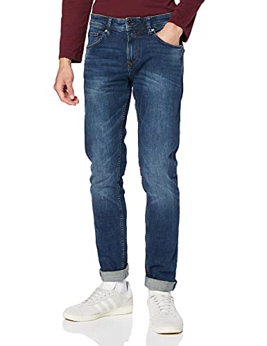 TOM TAILOR DENIM Herren Slim Piers Jeans, Blau (Dark Stone Wash Deni 10282), 33W / 32L
