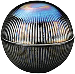 黒メタリック鎬彫丸型蓋物 [ 9.5 x 9.5cm ] 【 円菓子碗 】 【 料亭 旅館 和食器 飲食店 業務用 】