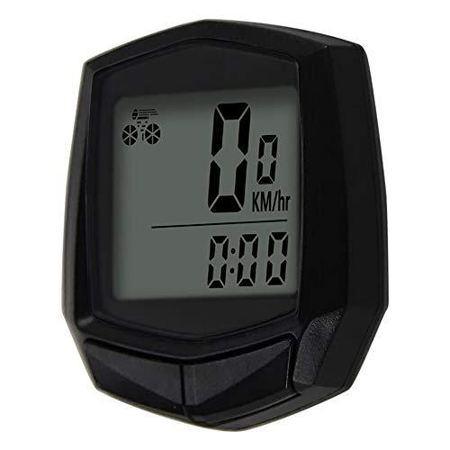 Sunding Bike Wired Stopwatch Fietscomputer Multifunctionele snelheidsmeter kilometerteller Sensor Outdoor Sport Accessoires Zwart
