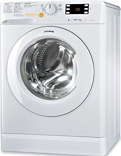 Privileg PWWT X 86G4 DE Waschtrockner / EEK A / 8 kg Waschen / 6 kg Trocknen /1400 UpM/Mengenautomatik/Wasserschutz/Antiflecken-Option/Startzeitvorwahl/Wolle-Programm/Inverter-Motor/ Push & Wash + Dry