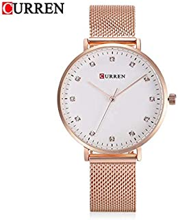 Curren 9023 Women Quartz Watch Rhinestone Scales Ultra-Thin Dial Female Wristwatch Top Brand Luxury Stainless Steel Watch Ladies