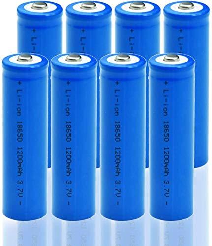 18650 Batería Recargable de Iones de Litio de Alta Capacidad 1200 mAh 3.7 V Batería para Luces solares Luces de Cadena de batería TV Control Remoto Ratón inalámbrico Antorcha LED Linterna (8 PCS)