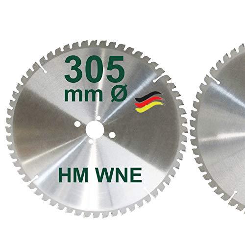 HM Sägeblatt 305 x 30 mm Zähne 60 W Kreissägeblatt Hartmetall 305mm Ersatzsägeblatt für De Walt Elu Scheppach Wechselzahnung Negativ