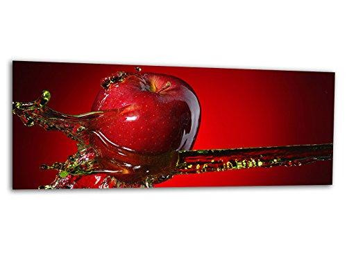 Glasbilder Echtglas Wandbilder Foto auf Glas Roter Apfel 125 x 50cm AG312502154 / Deco Glass, Design & Handmade/Eyecatcher, Kunstdruck!