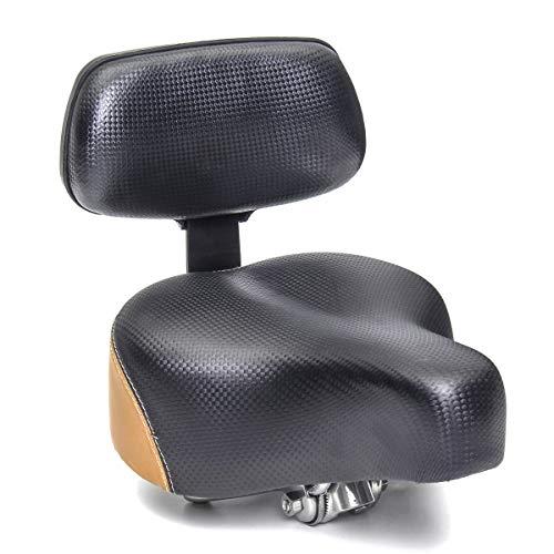 WWZYX Fahrradsattel, wasserdichte und Atmungsaktive Fahrrad Sattel, Fahrradsattelsitz mit Rückenlehne Unterstützung Fahrradzubehör Teil