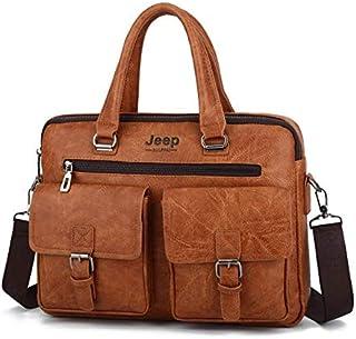 حقيبة كتف لون بني للرجال (حقيبة يد) حقيبة كتف لون اسود للنساء (حقيبة يد)