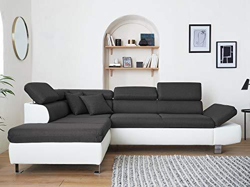 Canapé d'angle 5 places Tissu Pas cher Design