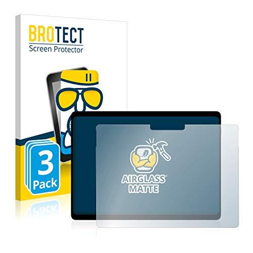 BROTECT Entspiegelungs-Panzerglasfolie kompatibel mit Microsoft Surface Pro X (3 Stück) - Anti-Reflex Panzerglas Schutz-Folie Matt