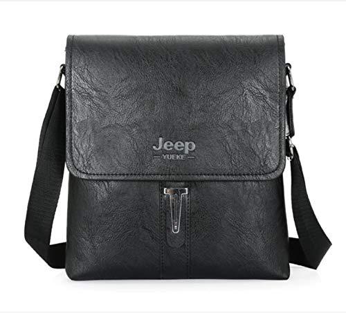 csfssd Shoulder bag men's soft PU leather business style men's Messenger bag men's bag handbag shoulder bag Jeep package (Color : 1)