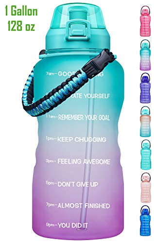 2.3L// 75 oz Water Bottle with Handle Silicone Lightweight Portable Water Bottle with Strap Inspirational Measured Water Bottle with Times Big Water Jug with Straw Drink Water Reminder Bottle