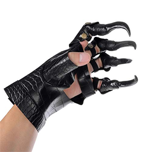 Teyiwei Guantes Cosplay Teufel Halloween Scary Party Adultos Guantes Halloween Cosplay