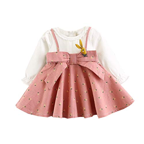 AIKSSOO Infant meisje cartoon print plissé jurk kid bowknot ritssluiting prinses rok