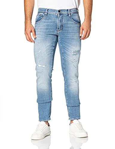 Antony Morato Herren Skinny Barret-SUPER Soft Jeans, Denimblau, 36