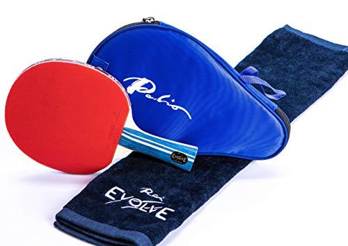 Palio Evolve Bate de tenis de mesa edición 2019 con funda para cabeza y toalla gratis, el nuevo y actualizado bate experto en la gama Palio. ITTF aprobó el mejor bate de tenis de mesa en Amazon.