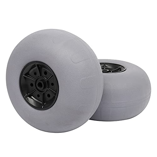 Bonnlo Replacement Balloon Wheels 12' Big Beach Sand Tires for Kayak Dolly Canoe Carts Buggy with Free Air Pump Axle Diameter (20mm)