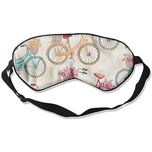 Slaap oogmasker fiets bloemen zachte oogstrip verstelbare hoofdband eyeshade Travel Eyepatch
