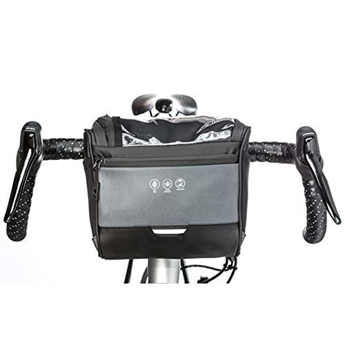 otutun Bolsa para Manillar, 5L Bolsa de Manillar de Bicicleta con Bandolera, Bolsa de Canasta de Bicicleta Impermeable con Pantalla táctil para MBT Bici Carretera Plegable (22 x 12 x 19 cm)