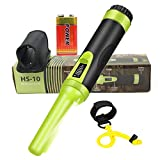 Fully Waterproof LCD Display Pinpointing Gold Metal Detector with LED Flashlight,360 Degree...