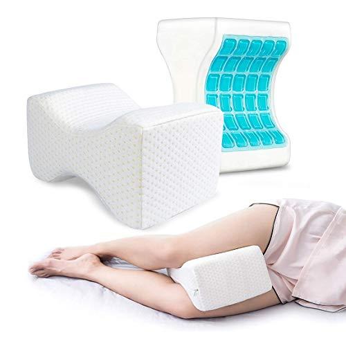 Almohada Piernas Dormir,Almohada Rodillas Ergonomica para Durmientes de Lado Cojín Ortopédico con Almohada Espuma Memoria para Alivia el Dolor en la Espalda,Caderas y Ciática Knee Pillow