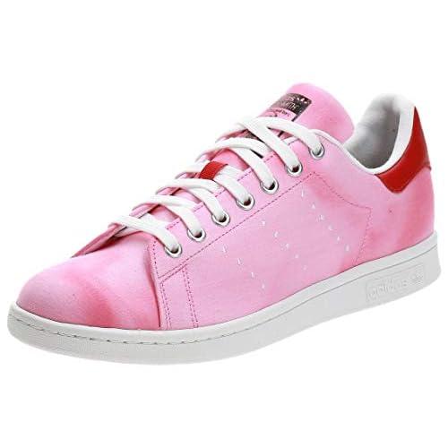 adidas PW HU Holi Stan Smith, Scarpe da Fitness Uomo, Bianco (Ftwbla/Ftwbla/Rojo 000), 41 1/3 EU