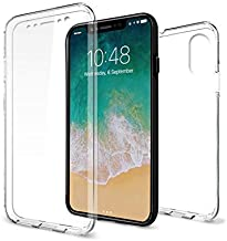 JNSupplier Ultra Thin 360°Full Cover Protect Clear Soft Gel Silicone TPU Case for iPhone X XS Max XR (iPhone Xs)