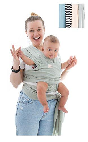 RylooBaby Carrier-Baby Carrier Sling-Nursing Cover-Soft Carrier-Baby Sling-Completely Adjustable-Infant Carrier (Neutral Green)