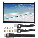 Pantalla Ultra Clara de 10 en 1024 × 600, Pantalla capacitiva de Monitor portátil USB Hdmi, Interruptor de luz de Fondo, para Pantalla Raspberry Pi, para Oficina, enseñanza en línea, visualización de