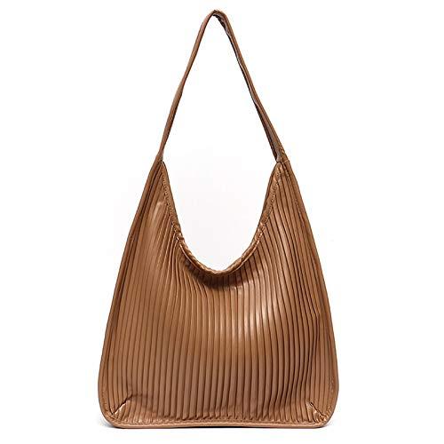 Serious Lamp Bolsas de Cuero Suave para Damas Bolso de Gran Capacidad Bolso Cruzados de Moda Bolsas de Hombro para Mujeres Casual,Marrón