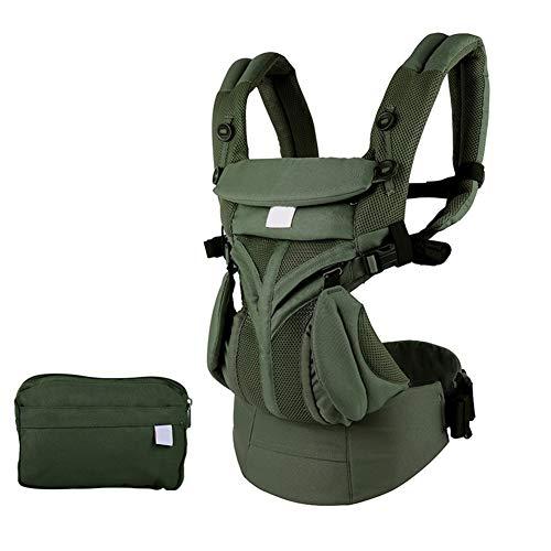 LGLE Porte bébé Multifonction Respirant Sac à Dos Enfant Sling Wrap Toddler Bretelles,Green