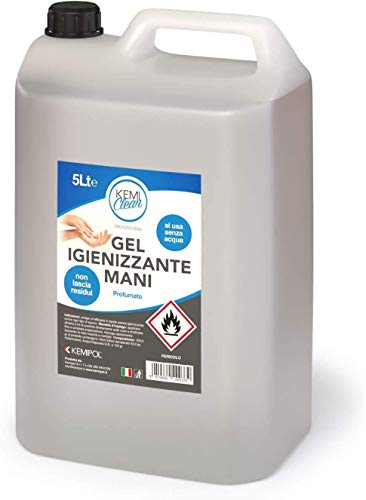Gel igienizzante mani Kemiclean - Tanica da 5 lt.