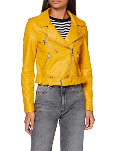 Only ONLVALERIE Faux Leather Jacket CC Otw Giacca, Oro Giallo, 36 Donna