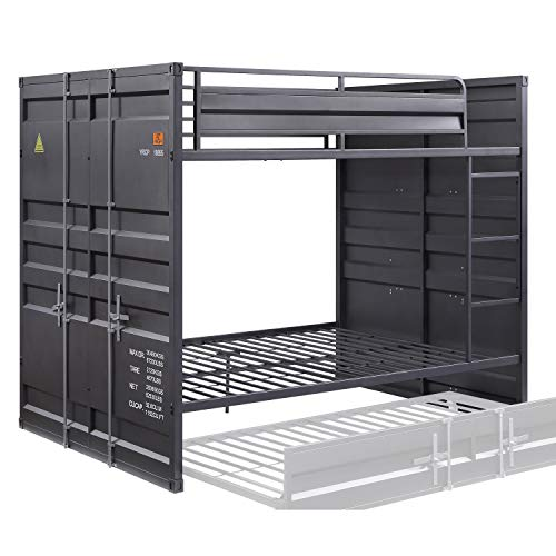 ACME Cargo Bunk Bed (Full/Full) - - Gunmetal