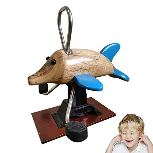 DUTUI Wooden Rocking Horse, Solid Wood Children's Toy Wooden Horse, Baby Rocking Chair, Child Birthday Gift, Wooden Unicorn, 75X61x78cm
