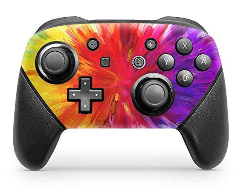 Skins4u Vinyl Schutz-Folie Skin für Nintendo Switch Pro Controller Aufkleber Sticker Color Diffusion